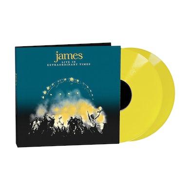James LIVE In Extraordinary Times Yellow Double LP (Vinyl)