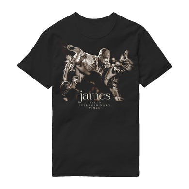 James LIVE In Extraordinary Times Black T-Shirt