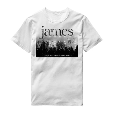 James LIVE In Extraordinary Times White T-Shirt
