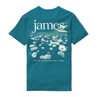 James LIVE In Extraordinary Times Blue Daisy T-Shirt