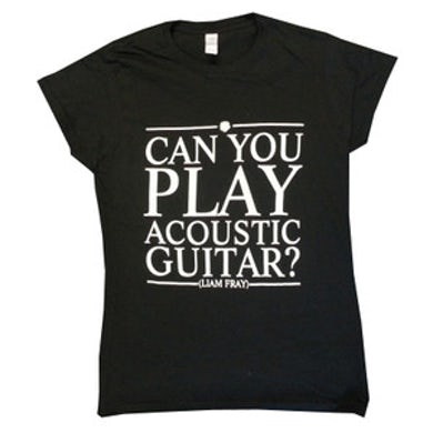 Liam Fray Ladies Acoustic Black T-Shirt