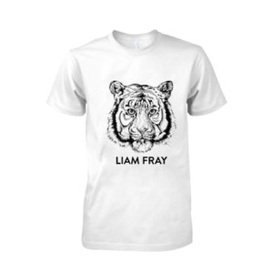 Mens Liam Fray Tiger White T-Shirt