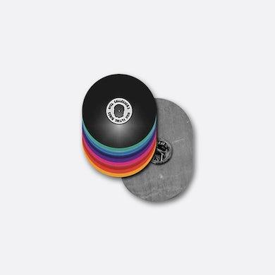 Noel Gallagher Vinyl Stack Enamel Pin Badge