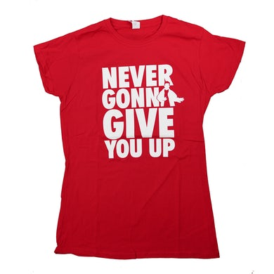 Rick Astley Never Gonna Give You Up Red T-Shirt