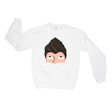 Rick Astley White Sweatshirt