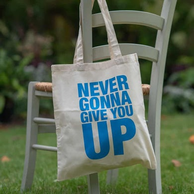 Rick Astley Never Gonna Give You Up Tote Bag