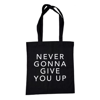 Rick Astley Never Gonna Give You Up Black Tote Bag