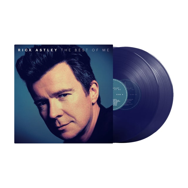 Rick Astley The Best Of Me Limited Edition Clear Blue Double Double LP (Vinyl)