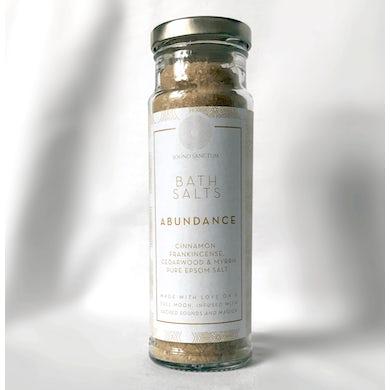 Sasha Siem Sound Sanctum Abundance Bath Salts. Cinnamon, Frankincense, Cedarwood And Myrrh Pure Epsom Salt