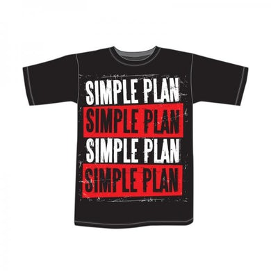 Simple Plan Stacked T-Shirt