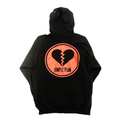 Simple Plan Broken Heart Zip Hoody