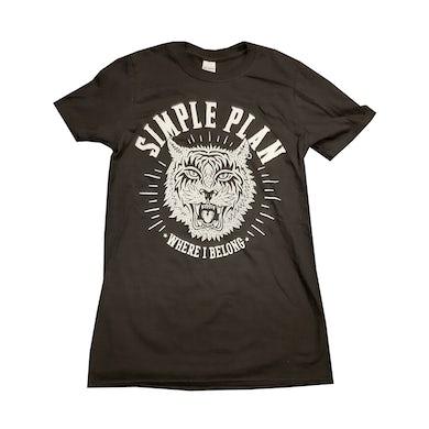 Simple Plan Where I Belong Black T-Shirt