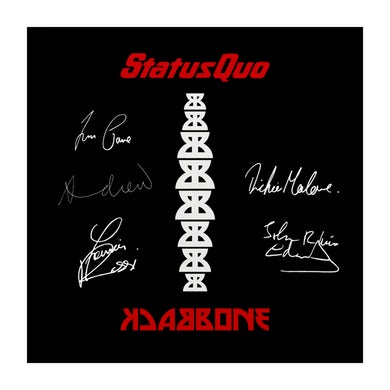 Status Quo Backbone Canvas Signed