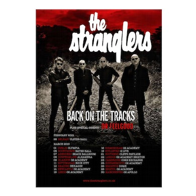 The Stranglers Back On The Tracks Tour Poster