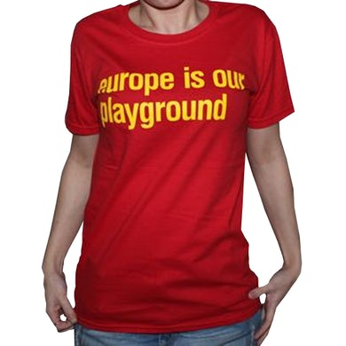 Ladies Red Suede Euro Tour T-Shirt