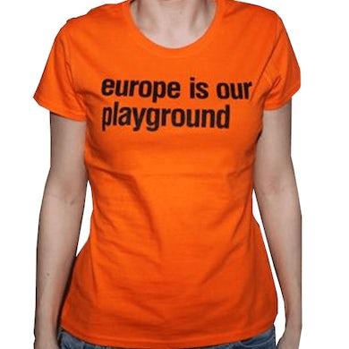 Ladies Orange Suede Euro Tour T-Shirt