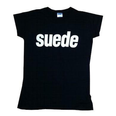 Ladies Suede Logo T-Shirt