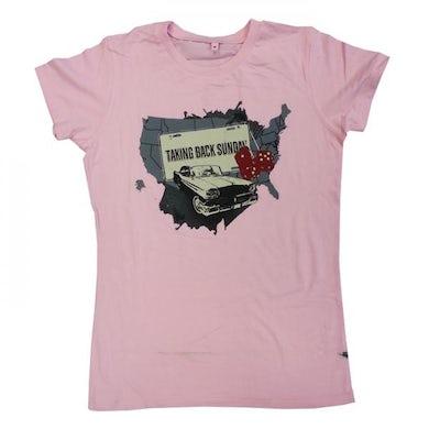 Taking Back Sunday Ladies Pink Car T-Shirt