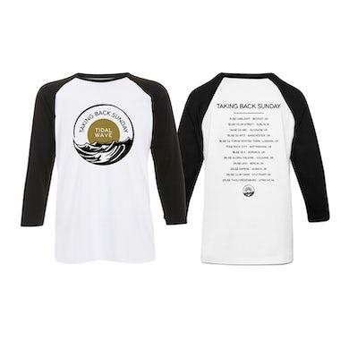 Taking Back Sunday White/Black Logo Tour Baseball T-Shirt