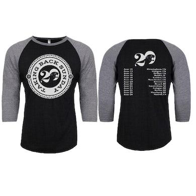 Taking Back Sunday Black/Heather Tour 2019 3/4 Sleeve T-Shirt
