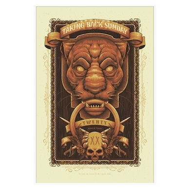 Taking Back Sunday Screen Printed Poster