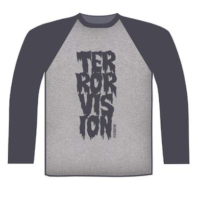 Terrorvision Baseball Grey/Dark Grey Baseball T-Shirt