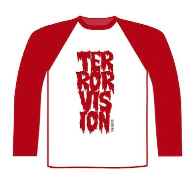 Terrorvision Baseball Red/White Baseball T-Shirt