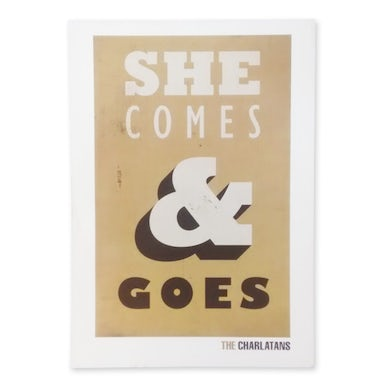 The Charlatans She Comes & Goes Lyric Poster