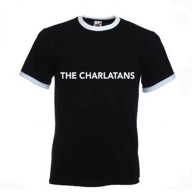 The Charlatans Mens Black Ringer T-Shirt