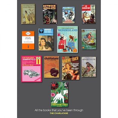 The Charlatans A2 All The Books Print (Updated Version)