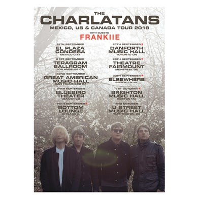 The Charlatans North American Tour Poster