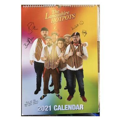 The Lancashire Hotpots Signed A3 Calendar