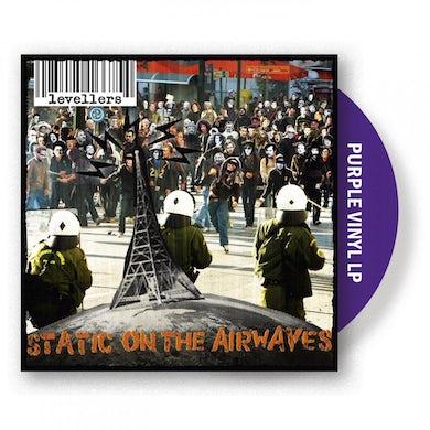 The Levellers Static On The Airwaves Purple LP (Vinyl)