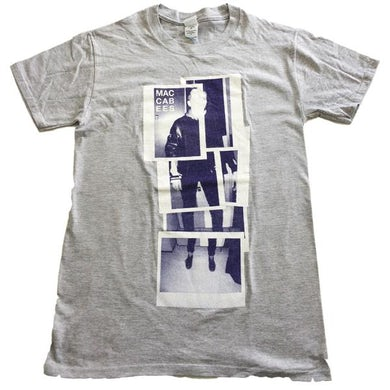 The Maccabees Womens Grey And Navy Polaroid T-Shirt