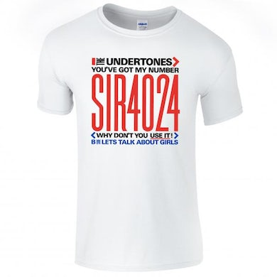 The Undertones White You've Got My Number T-Shirt