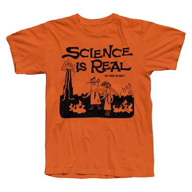 They Might Be Giants Science Is Real Orange T-Shirt