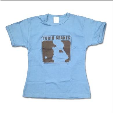 Turin Brakes Vintage Ladies Blue T-Shirt