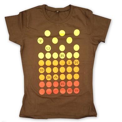 Turin Brakes Vintage Ladies Brown T-Shirt
