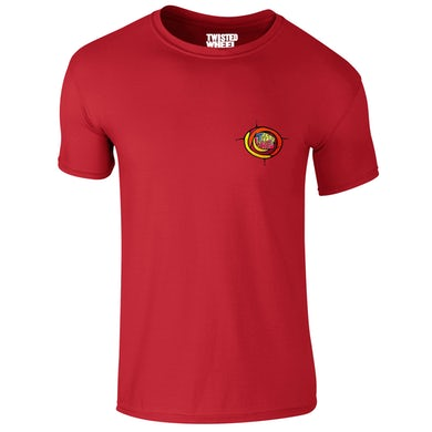 Twisted Wheel Coloured Chest Logo Red T-Shirt