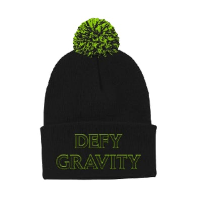 Wicked Defy Gravity Black Pom Beanie