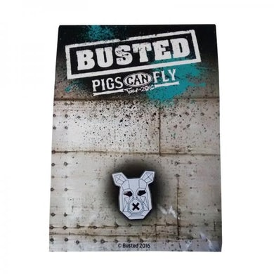 Busted Enamel Badge