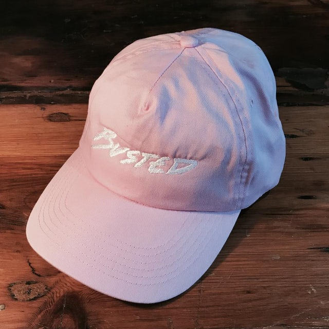 Pink Busted Logo Cap