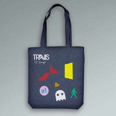 Travis Album Denim Tote Bag