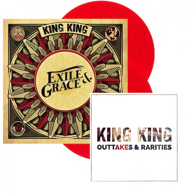 KING KING Exile & Grace - Limited Edition 180grm Red Vinyl Double LP (Store Exclusive) Double Heavyweight LP