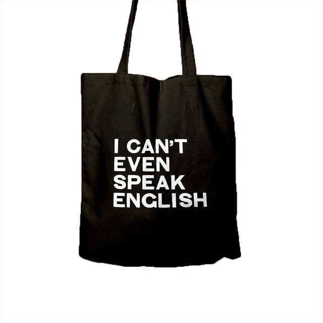 Husky Loops I Cant Even Speak English Tote Bag