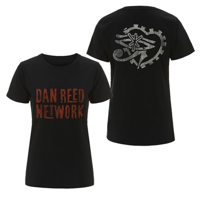 Dan Reed Network DRN Retro Logos Black Womens T-Shirt