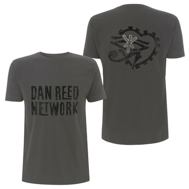 Dan Reed Network DRN Retro Logos Charcoal Mens T-Shirt