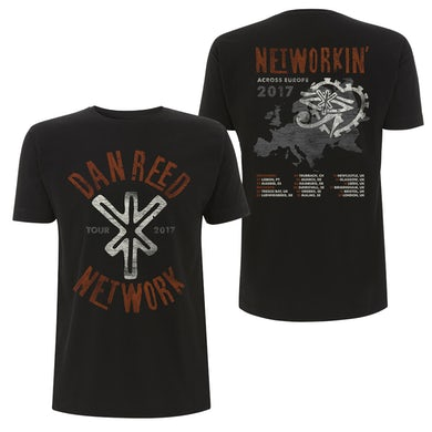 Dan Reed Network DRN Tour Logo Black T-Shirt