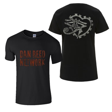 Dan Reed Network DRN Retro Logos Black Mens T-Shirt