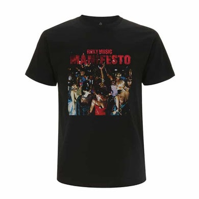 Roxy Music Manifesto Black T-Shirt